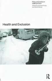 Cover of: Health and Exclusion | Michael Purdey