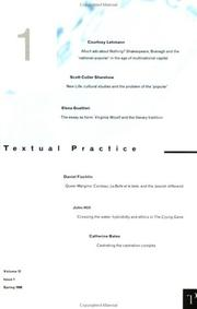 Cover of: Textual Practice (Texual Practice , Vol 12, Issue 1)