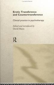 Cover of: Erotic transference and countertransference |