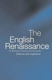 Cover of: The English Renaissance