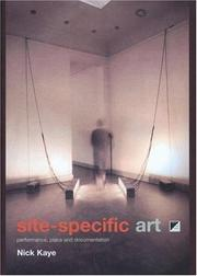 Cover of: Site-specific art
