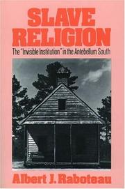 Cover of: Slave Religion