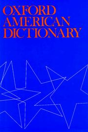 Cover of: Oxford American dictionary |