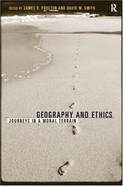 Cover of: Geography and Ethics