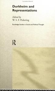 Cover of: Durkheim and Representations