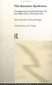 Cover of: The Ancestor Syndrome | Schutzenberger
