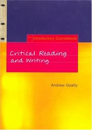 Cover of: Critical reading and writing