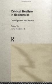 Cover of: Critical Realism in Economics