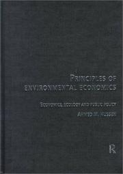 Cover of: Principles of Environmental and Natural Resource Economics