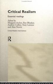 Cover of: Critical Realism: Essential Readings (Critical Realism--Interventions)