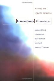 Cover of: Francophone Literatures