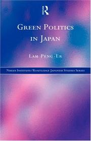 Cover of: Green politics in Japan