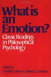 Cover of: What Is an Emotion? |