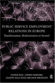 Cover of: Public Service Employment Relations in Europe | Stephen Bach