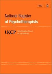 Cover of: UKCP National Register of Psychotherapists 1999