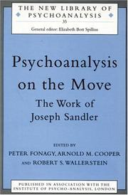 Cover of: Psychoanalysis on the move |