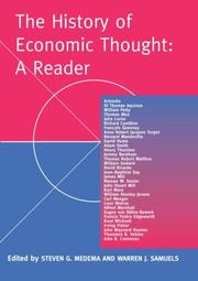 Cover of: The history of economic thought