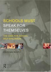 Cover of: Schools must speak for themselves
