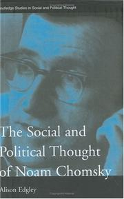 Cover of: The social and political thought of Noam Chomsky