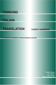 Cover of: Thinking Italian Translation