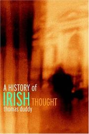 Cover of: A history of Irish thought