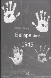 Cover of: Europe since 1945