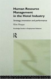 Cover of: Human Resource Management in the Hotel Industry | Kim Hoque