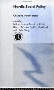 Cover of: Nordic Social Policy