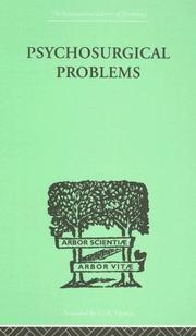 Cover of: Psychosurgical Problems | FRED A METTLER