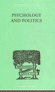 Cover of: Psychology and Politics | W H R Rivers