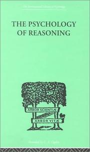 Cover of: The Psychology of Reasoning