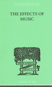 Cover of: The Effects of Music