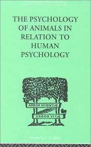 Cover of: The Psychology of Animals in Relation to Human Psychology