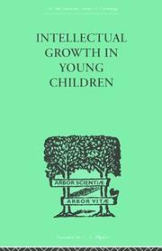 Cover of: Intellectual Growth in Young Children | Susan Sutherland Fairhurst Isaacs