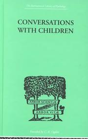 Cover of: Conversatons with Children