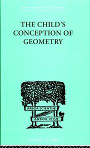 Cover of: Child's conception of geometry