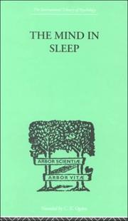 Cover of: The Mind in Sleep