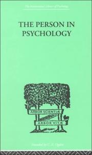 Cover of: The Person in Psychology