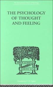 Cover of: The Psychology of Thought and Feeling