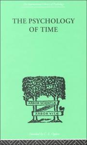 Cover of: The Psychology of Time