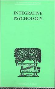 Cover of: Integrative Psychology