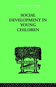 Cover of: Social Development in Young Children | Susan Sutherland Fairhurst Isaacs