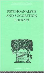 Cover of: Psychoanalysis and Suggestion Therapy