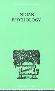 Cover of: Indian Psychology Perception | Jadunath SINHA