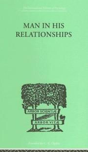 Cover of: Man in His Relationships