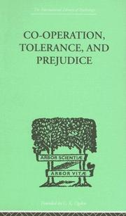 Cover of: Co-Operation, Tolerance, and Prejudice