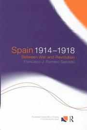 Cover of: Spain, 1914-1918