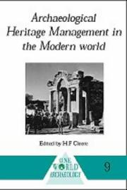 Cover of: Archaeological Heritage Management | Henry Cleere