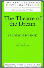 Cover of: The Theatre of Dream | Salomon Resnik