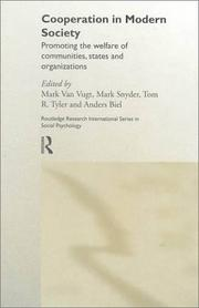Cover of: Cooperation in Modern Society